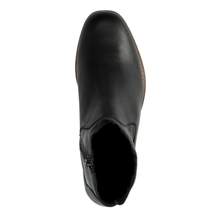 Bottines en cuir - noir