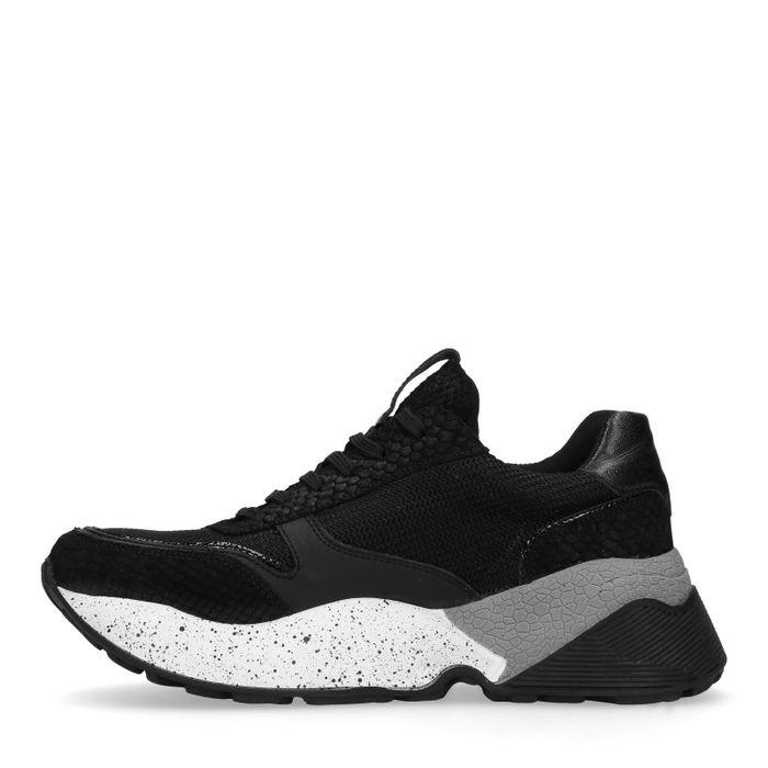 Dad shoes en cuir - noir