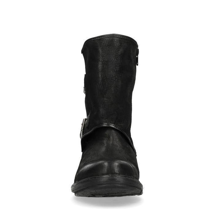 Bottes courtes avec boucles - noir