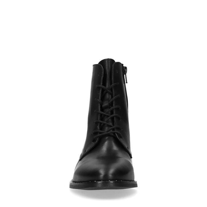 Bottines à lacets en cuir - noir