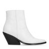 Bottines en cuir à talon - blanc