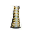 Bottines avec motif peau de serpent et détails jaunes - noir