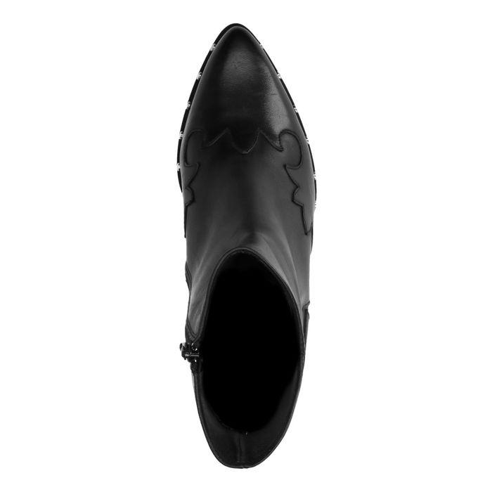 Bottines en cuir avec talon western Sacha x Jolielot - noir