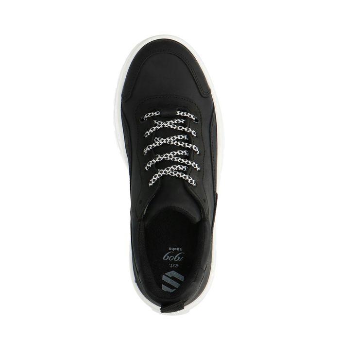 Dad shoes avec semelle plateforme blanche - noir