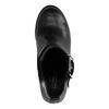 Chelsea boots cuir à talon avec boucle décorative - noir