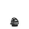Sandales cuir avec détail tressé - noir