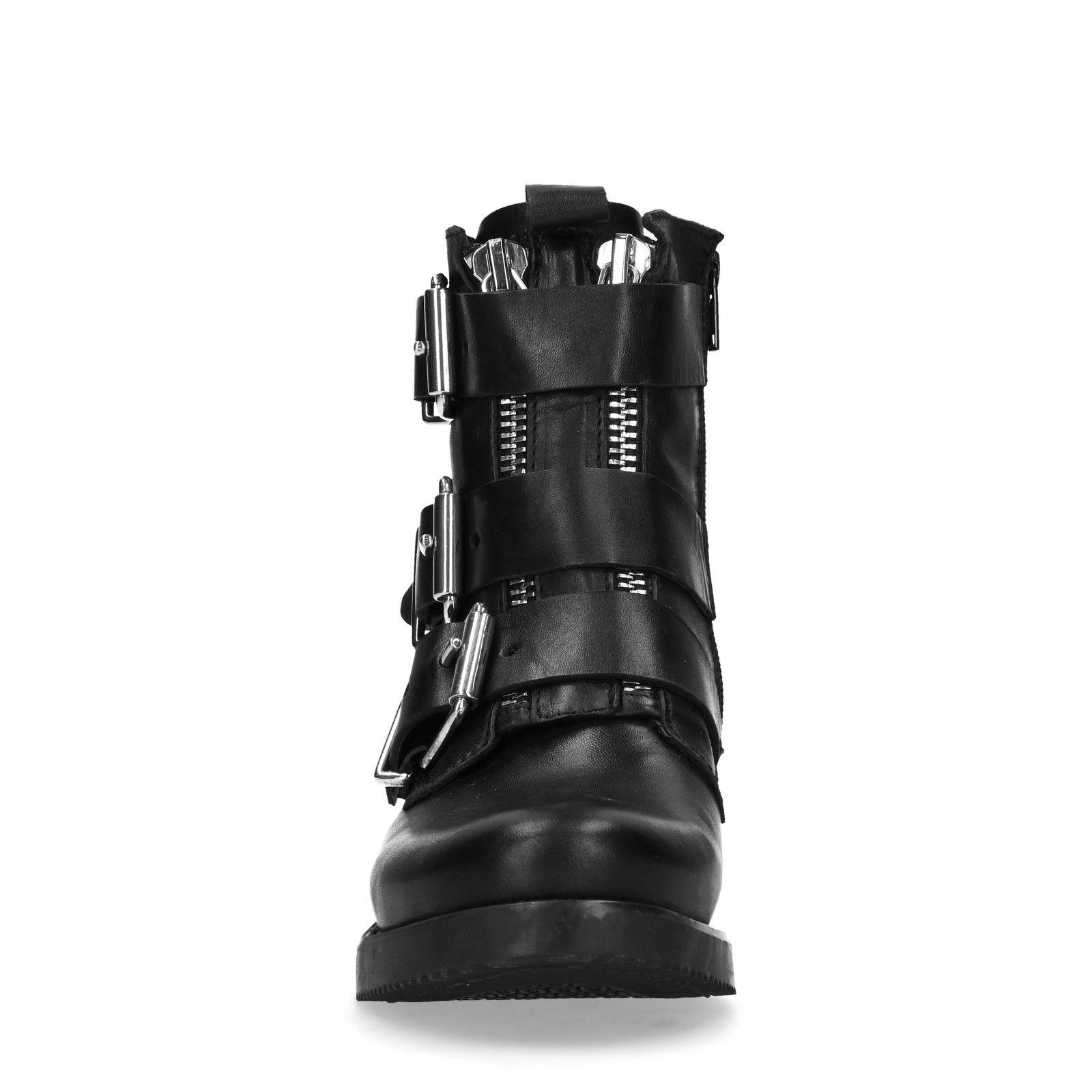 noir Boots Two /à fermeture /Éclair