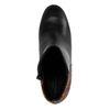 Bottines cuir à talon avec imprimé serpent - noir