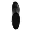 Bottes courtes cuir à talon - noir