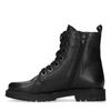 Bottines motardes cuir verni - noir