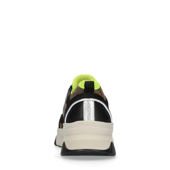 Dad shoes en cuir avec imprimé camouflage