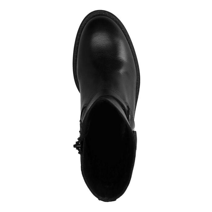 Bottines en cuir avec boucle - noir