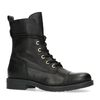 Bottines motardes en cuir - noir