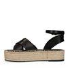 Sandales en cuir avec semelle plateforme - noir