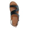 Sandales cuir à plateforme - noir