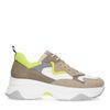 Dad shoes en cuir avec détails fluo