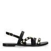 Sandales cuir avec petites pièces - noir