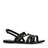 Sandales en cuir avec clous - noir