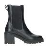 Chelsea boots cuir à talon - noir