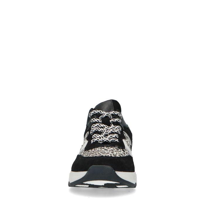 Dad shoes avec imprimé léopard - noir