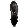 Bottines à lacets en cuir avec détails - noir
