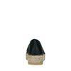 Espadrilles en cuir avec motif à carreaux - noir