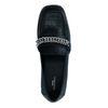 Loafers en cuir avec imprimé croco - noir