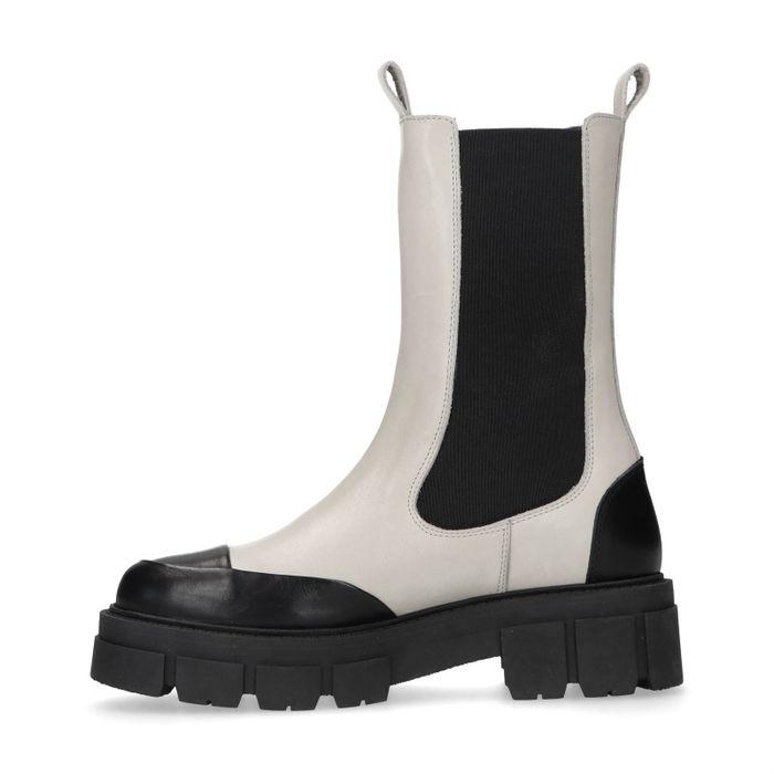 Chelsea boots en cuir avec détails - marron