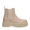 Chelsea boots en nubuck - beige