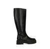 Chelsea boots montantes en cuir - noir