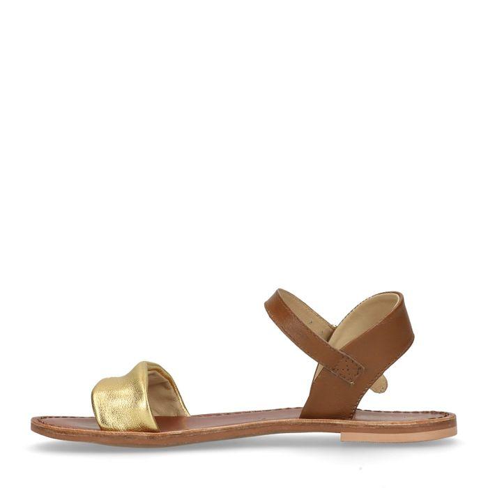 Sandales en cuir - doré