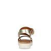 Sandales à plateforme en cuir métallisé - doré