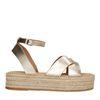 Sandales en cuir avec semelle plateforme - doré