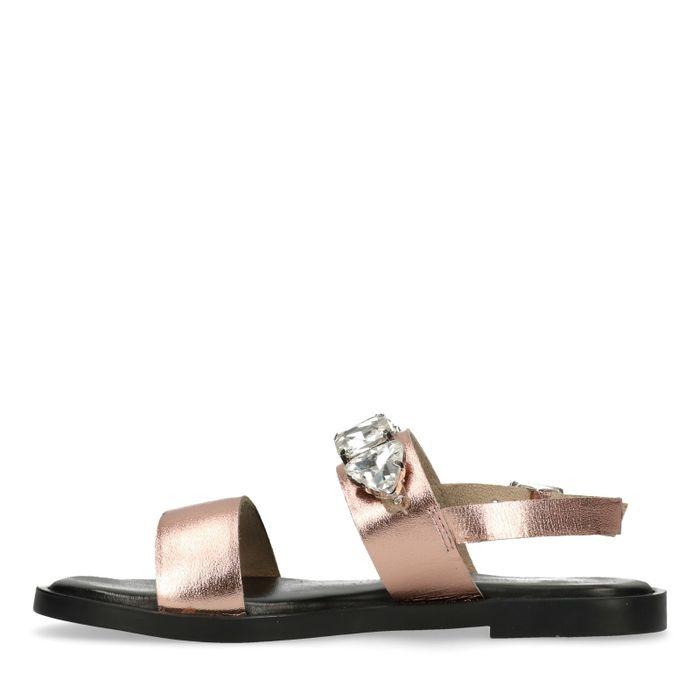 Sandales avec pierres - rose doré