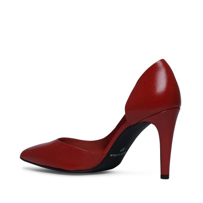 Escarpins en cuir - rouge