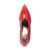Escarpins en cuir fermés - rouge