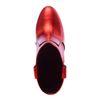 Bottines métallisées à talon - rouge