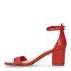 Sandales cuir à talon - rouge