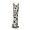 Santiags en cuir avec imprimé serpent - gris