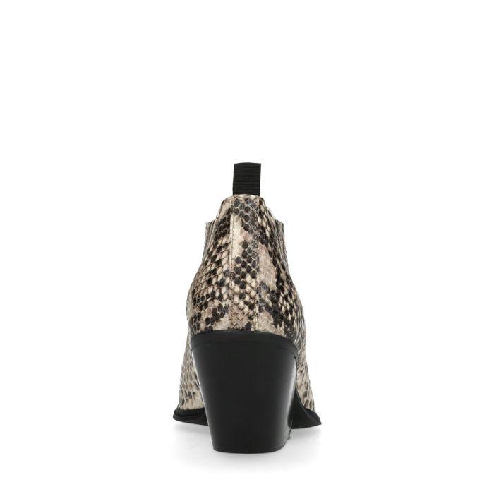 Chelsea boots avec motif peau de serpent - beige