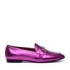Loafers métallisés - fuschia