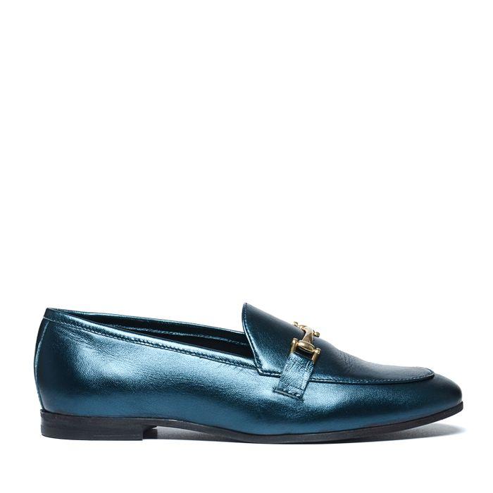Loafers métallisés - vert