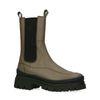 Chelsea boots en cuir - kaki