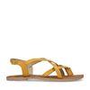 Sandales avec brides croisées - jaune