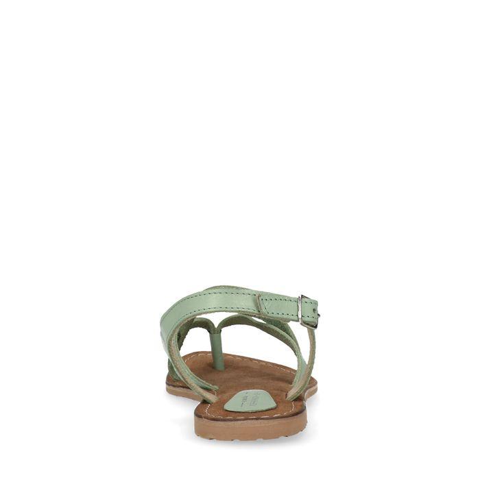 Sandales avec brides croisées - vert menthe