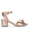 Sandales à talon métallisées - rose