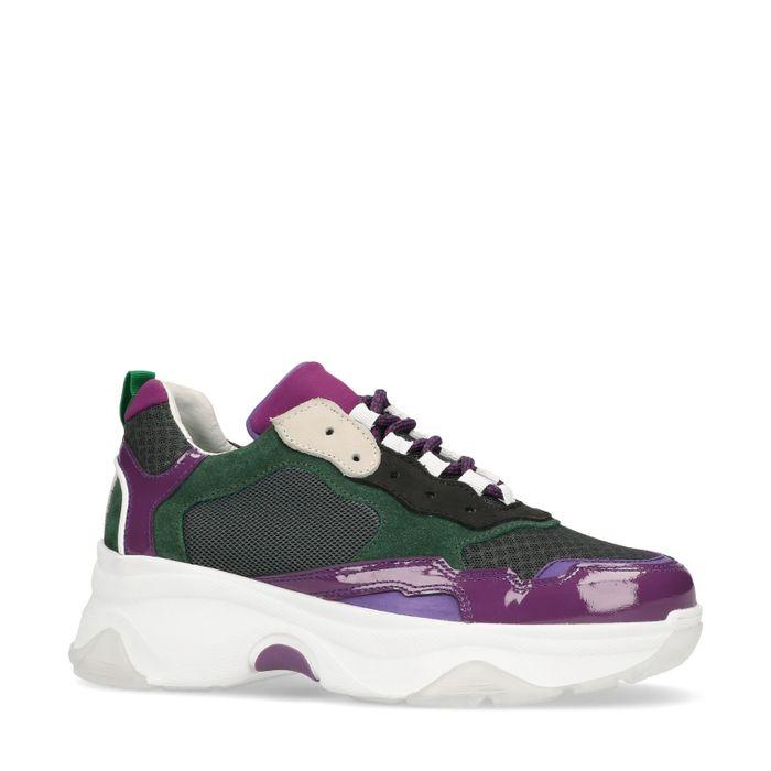 Dad shoes en cuir - violet