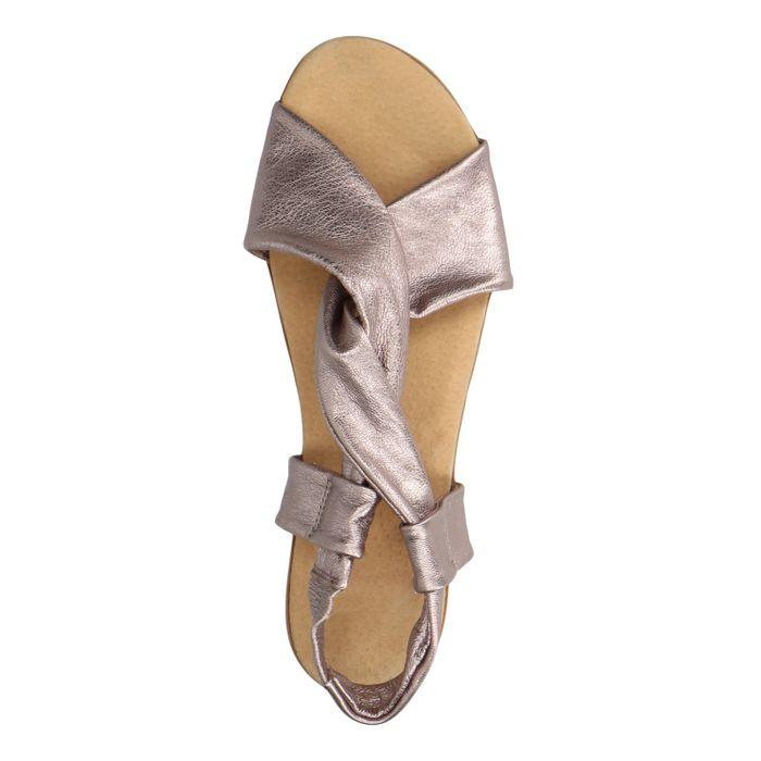 Sandales métallisées - mauve