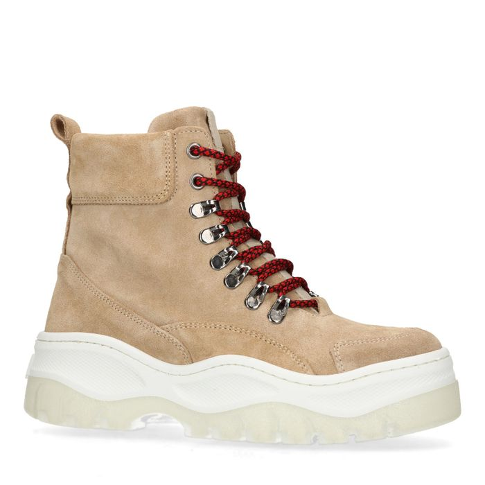Dad shoes montantes en daim - beige