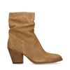 Bottines en daim avec talon - beige